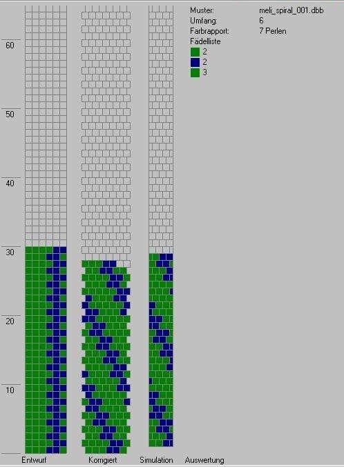 Schlauchketten Häkeln Musterbibliothek Melispiral001 Muster