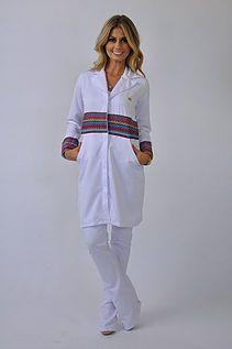 Dra cherie jalecos femininos e toucas fashion for Spa nagoya uniform