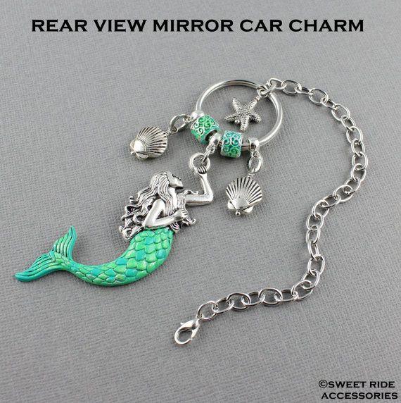 Mermaid Rear View Mirror Car Charm Car Mirror Mermaid