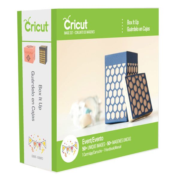 Provo Craft & Novelty Cricut Box It Up Event Cartridge item 2002009. Image set includes (50) boxes with lids. $17.50