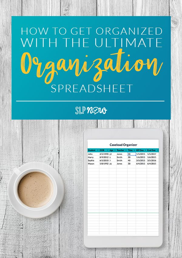 How to Get Organized with the Ultimate Organization Spreadsheet - spreadsheet compare 2010 download