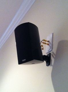 Extremely Creative How To Diy Speaker Wall Mounts Pinterest Ceiling Corner Speakers Check Out This Clean Speaker Wall Mounts Home Theater Setup Plates On Wall