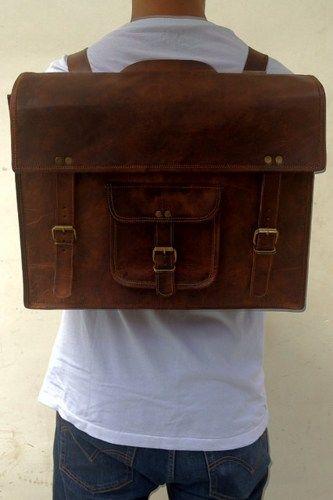 """16""""leather Backpack bag/Handmade leather messenger bag/shoulder bag"""