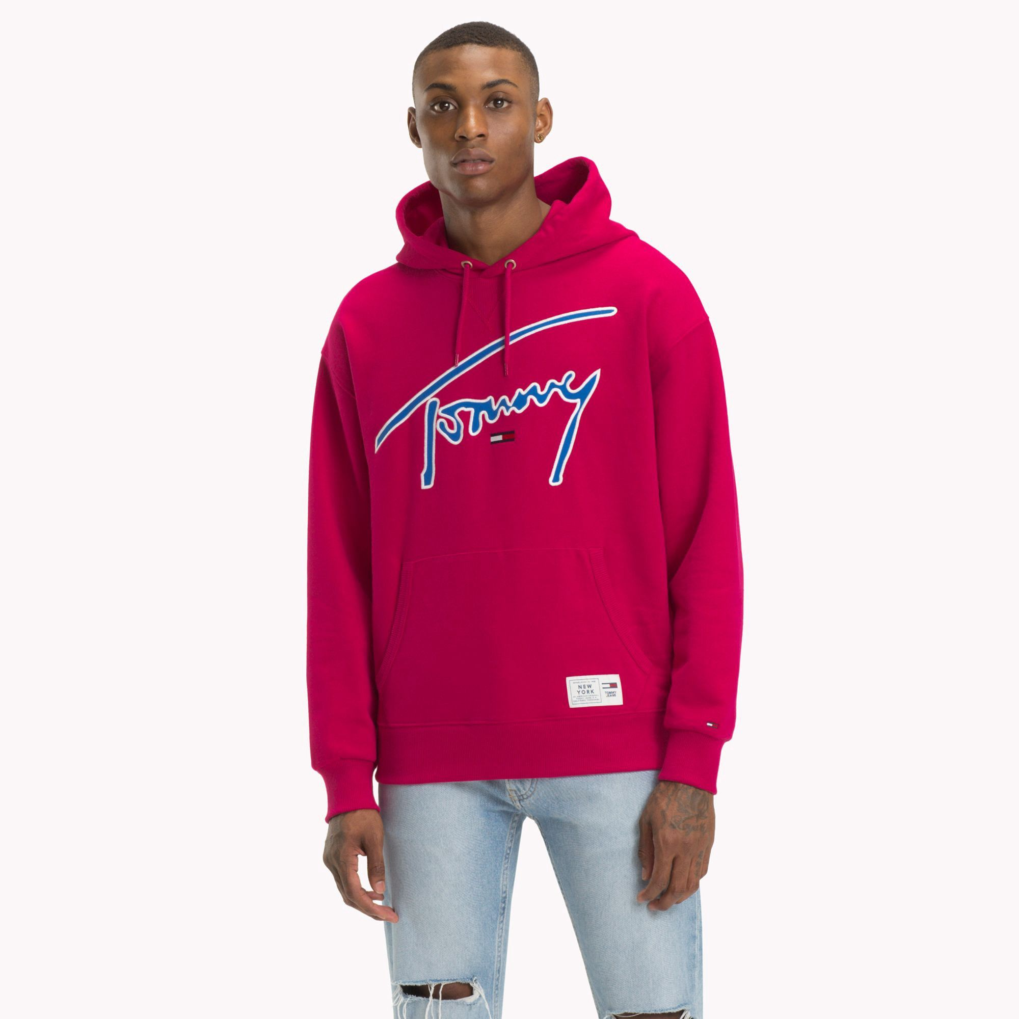 5ca88a4c2 Tommy Hilfiger Jeans Xplore Signature Hoodie - M | Products | Tommy ...