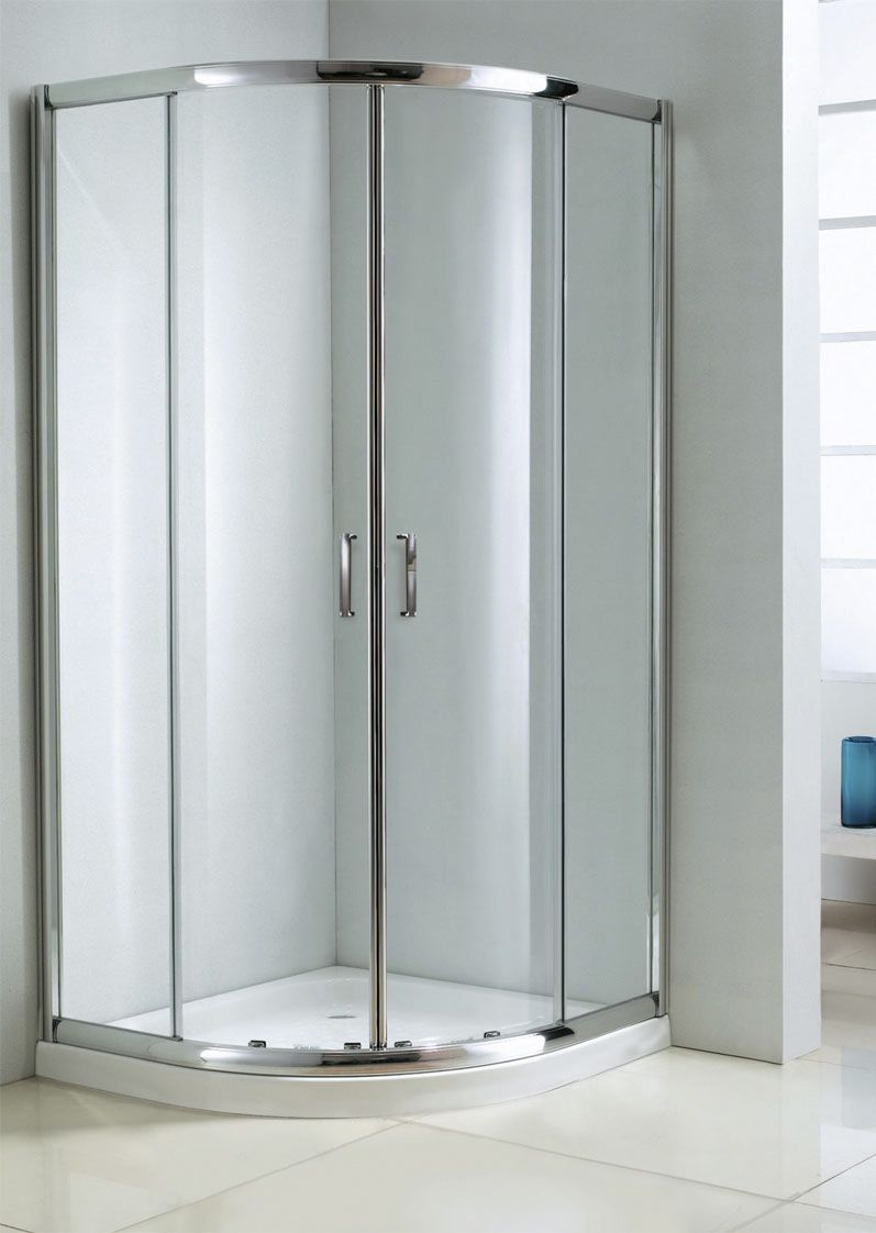 This SD-602-36 shower door provides a spacious cor- ner shower unit ...