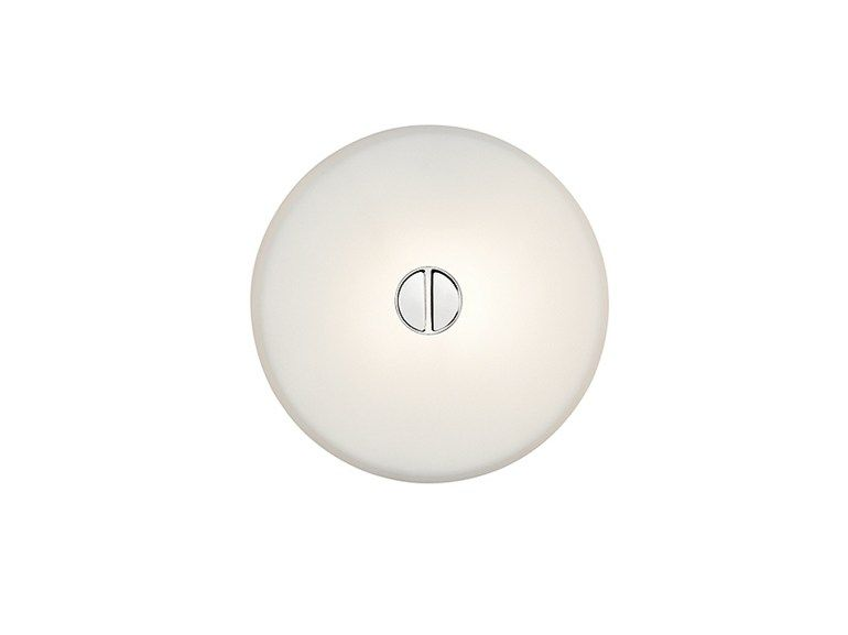 Die cast aluminium wall lamp MINI BUTTON Outdoor - Wall+Ceiling Collection by FLOS | design Piero Lissoni