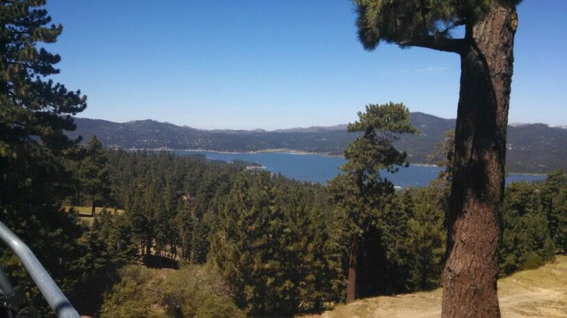View of Big Bear Lake from ski lift.  Summer 2014
