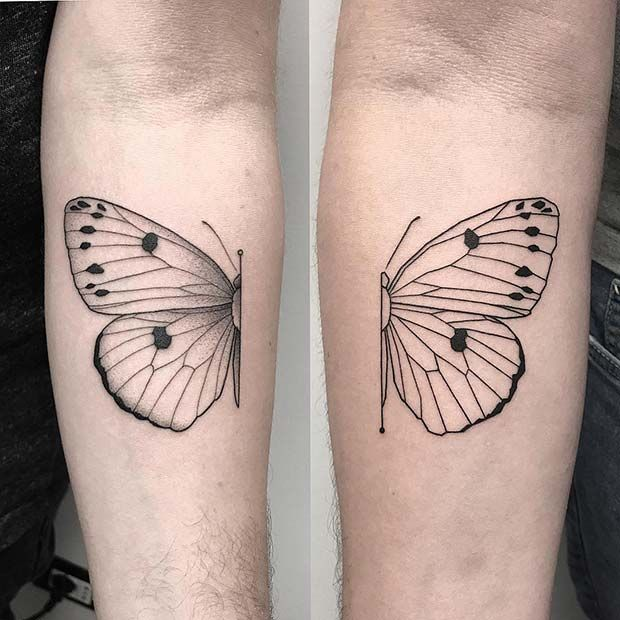 Photo of 41 Pretty Butterfly Tattoo Designs and Placement Ideas