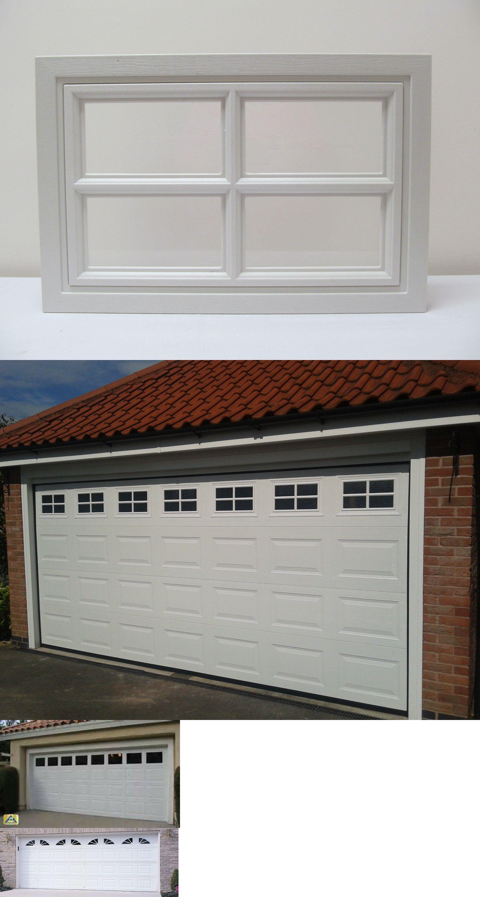 Carriage garage doors without windows  Garage Door Parts and Accs  Garage Door Windows Real Windows