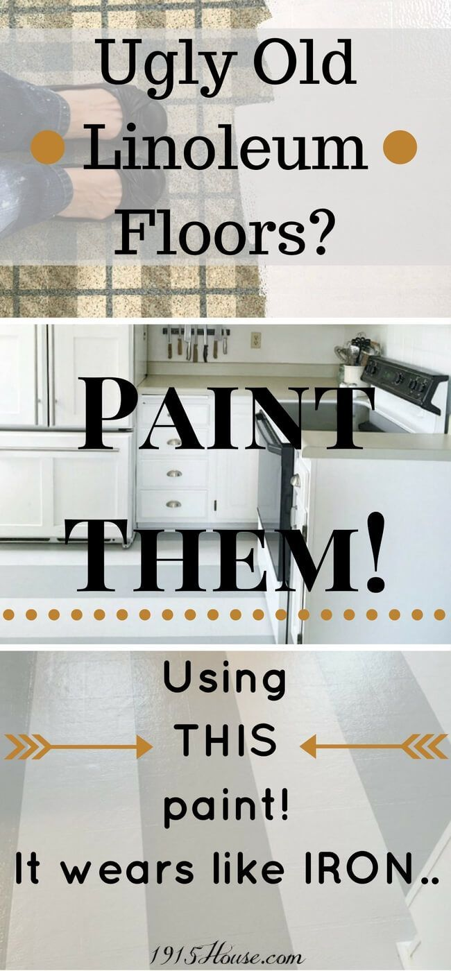 completely update your kitchen without buying new flooring ugly old linoleum floors paint - Linoleum Apartment Decor