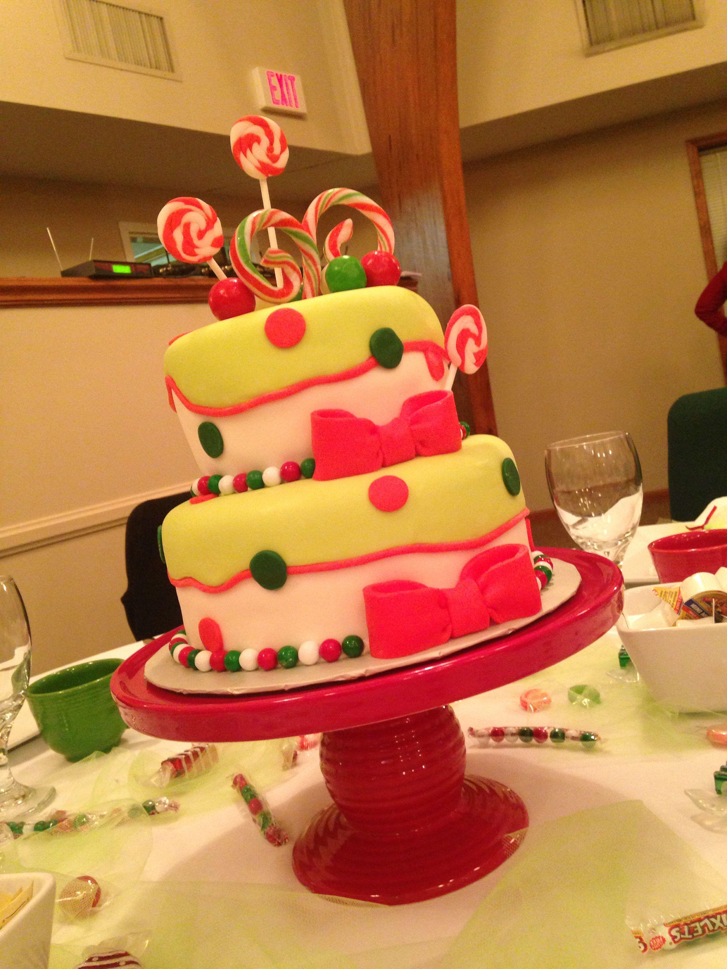 Christmas Candy Themed Cake