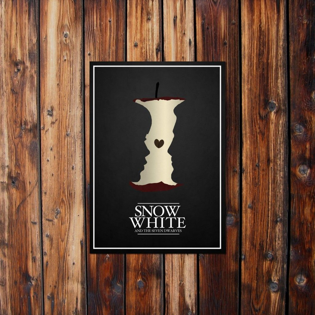 白雪姫と毒りんごのおしゃれなトリックアート スマホ壁紙 Iphoneや