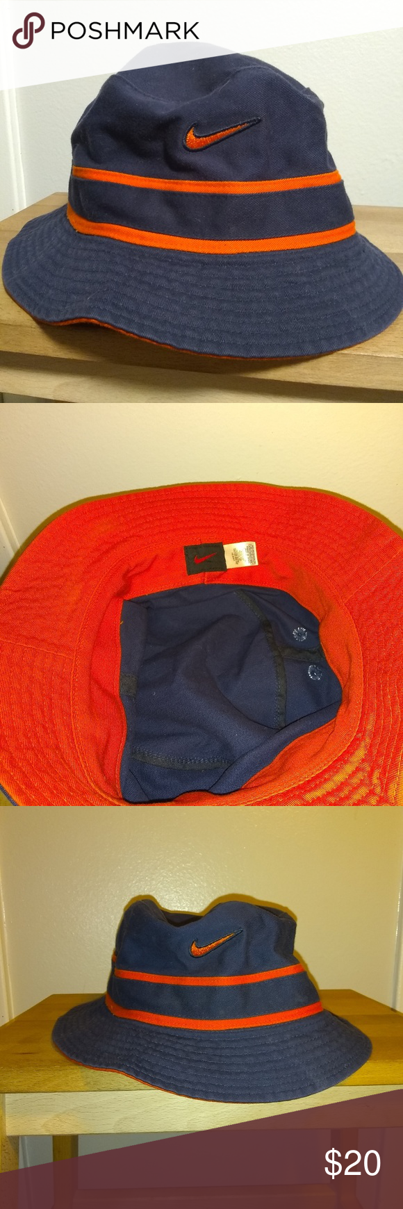 2326e6b9277 Nike Bucket hat Nike Blue and orange bucket hat. Fantastic condition. 100%  Cotton Nike Other