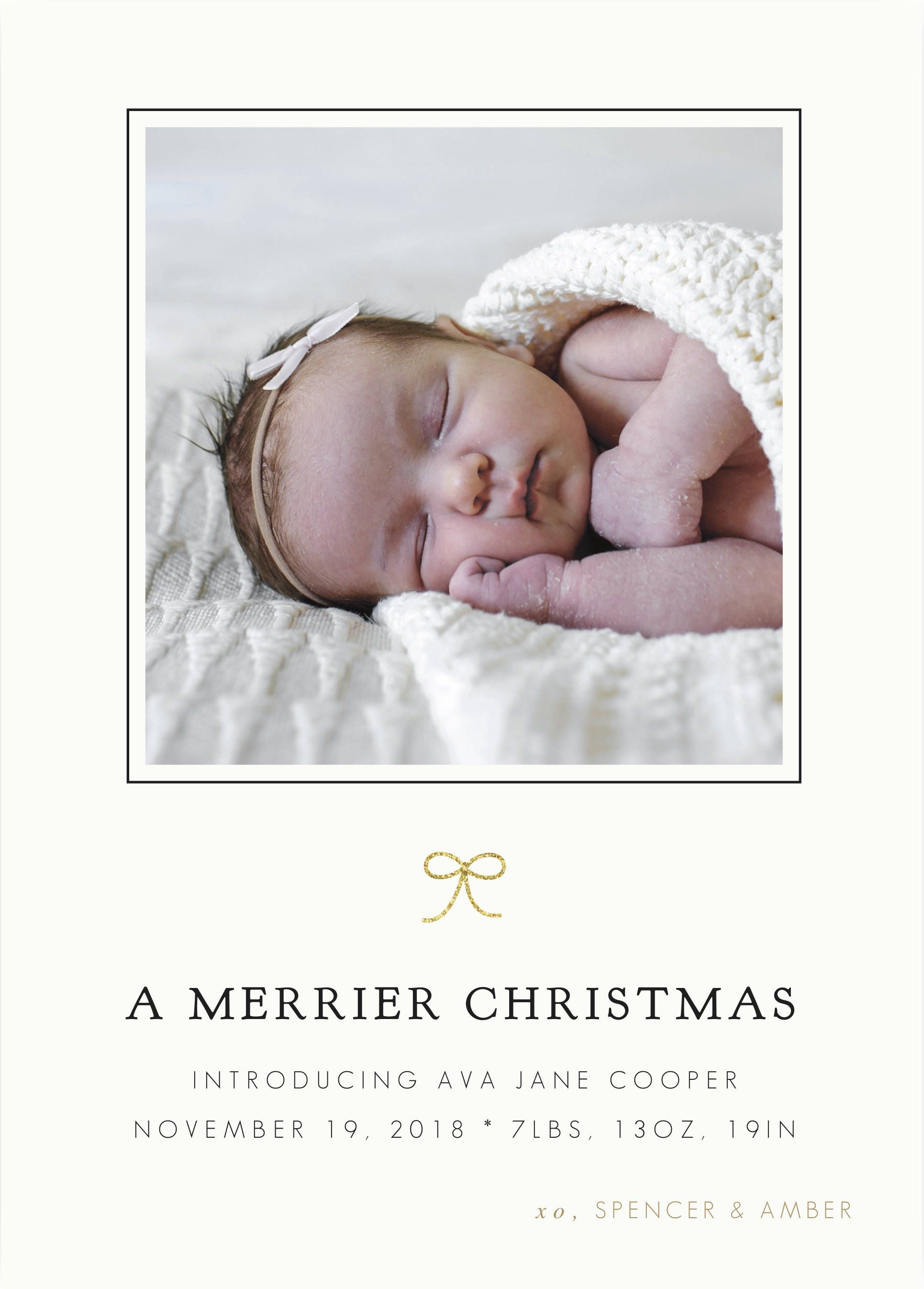 Merrier Christmas Printable Birth Announcement Baby Girl Christmas Birth Anno Baby Girl Announcement Cards Baby Girl Birth Announcement Baby Girl Announcement