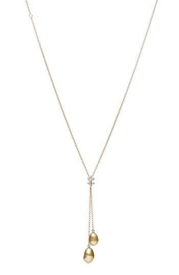 Photo of Genießen Sie exklusiv für Mikimoto Diamond & Golden South Sea Cultured Pearl Anhänger Halskette online – Showmetopstyle