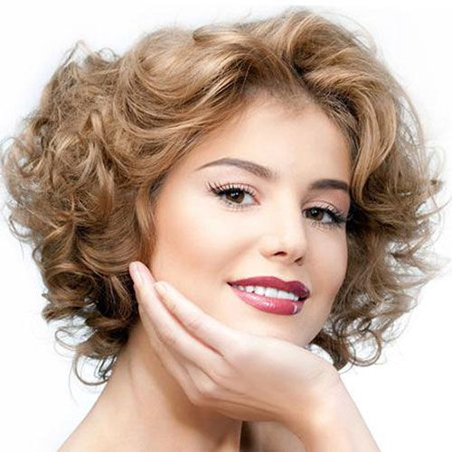 Short Curly Hairstyles For Thin Hair Jpeg Short Wavy Haircuts Short Wavy Hair Hair Styles