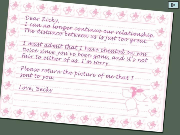 Funny Stuff The Best Reply To A Dear John Letter Ever