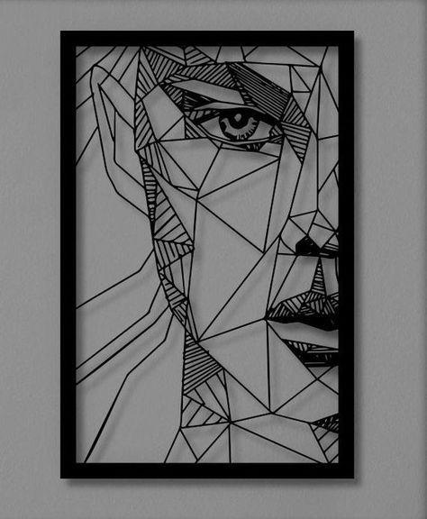 Woman Face Metal Wall Art Metal Wall Sculpture Accents For Etsy In 2020 Geometric Art Mandala Design Art Metal Wall Art Decor