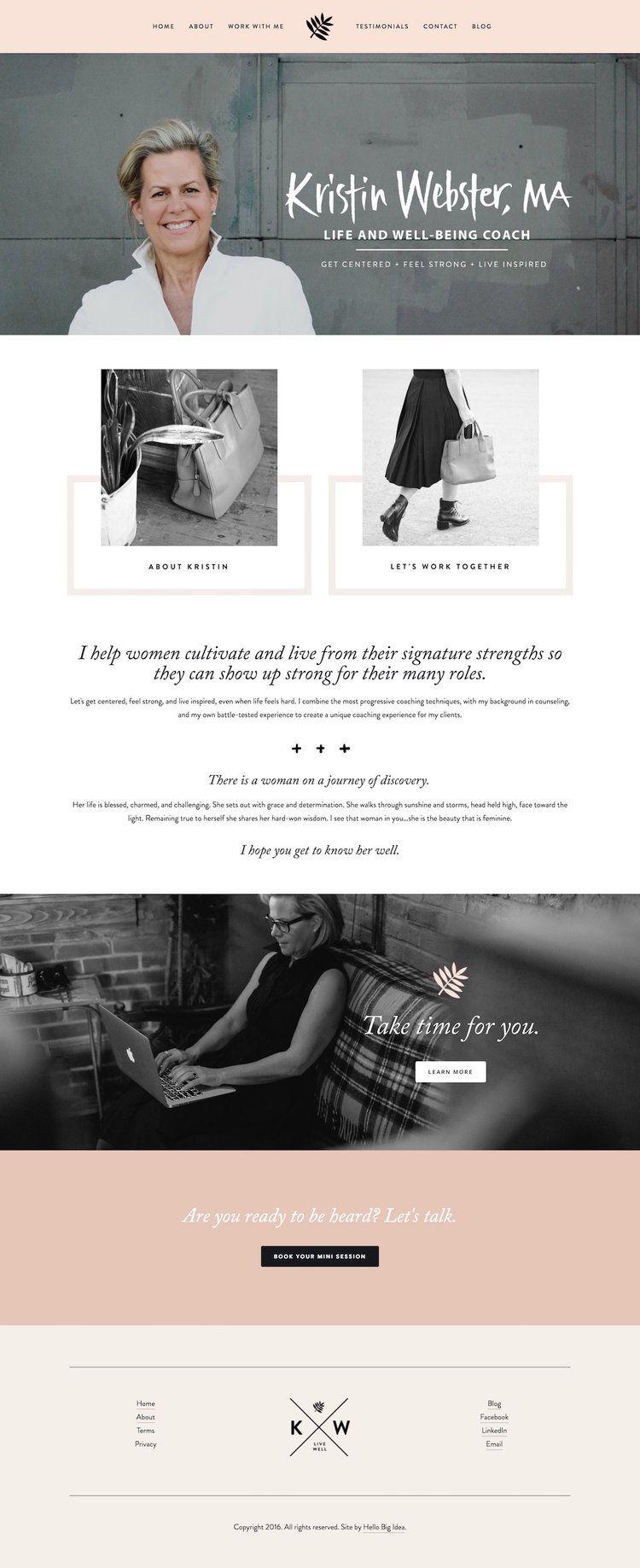 10 best example Squarespace websites • Feminine edition | Feminine ...