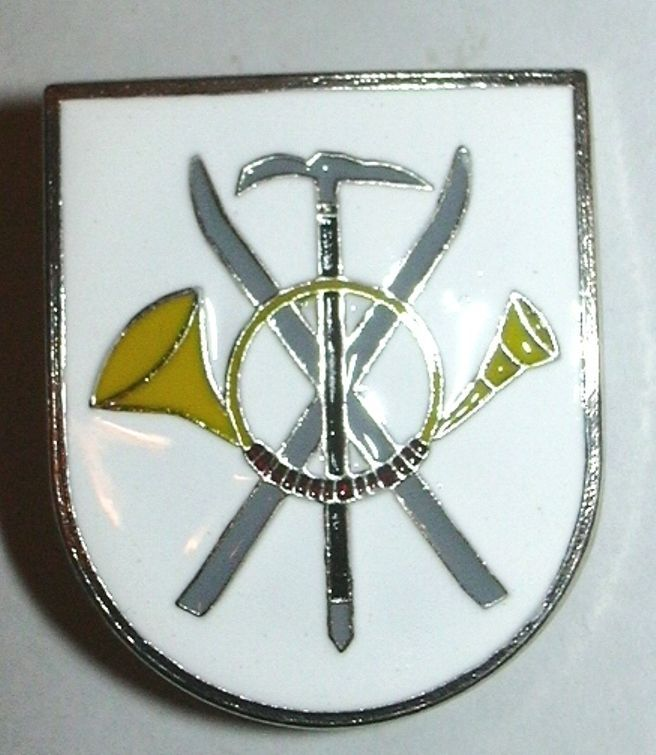Spain mountain troops skier climber title badge
