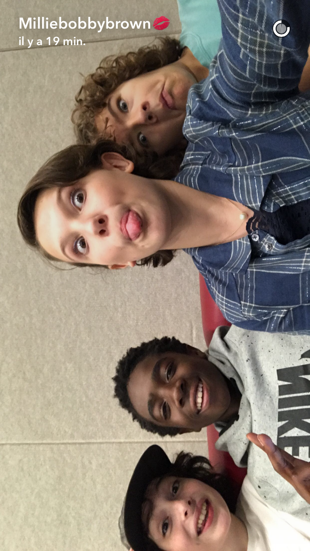 Millie, Caleb, Gaten, Finn ❤️ #spanishthings