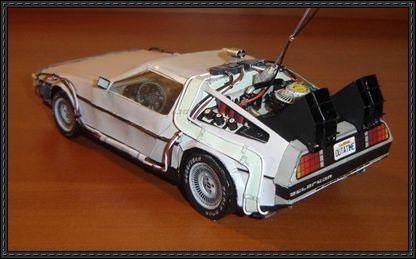 Back To The Future Delorean Time Machine Paper Car Ver 2 Free