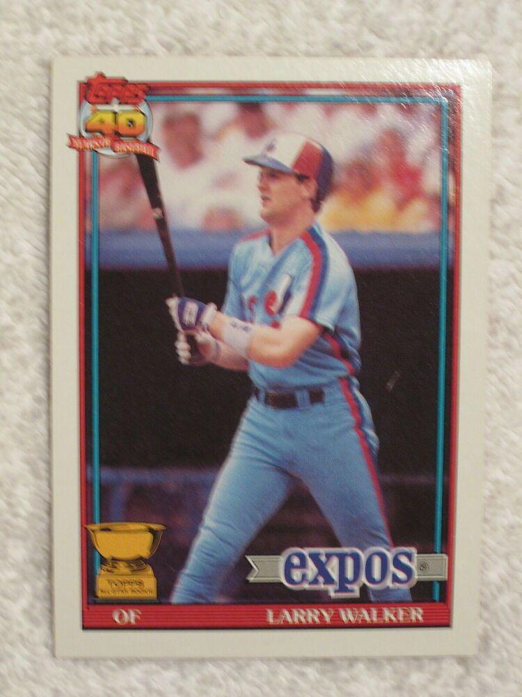 1991 topps baseball 339 larry walker all star