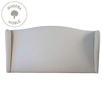 Cabecero de ecopiel, blanco - cama de 135/150 cm