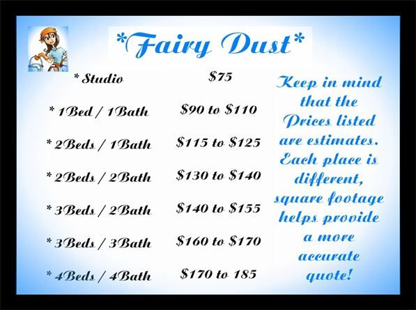 Fairy Dust Price List Cleaning Tips Commercial