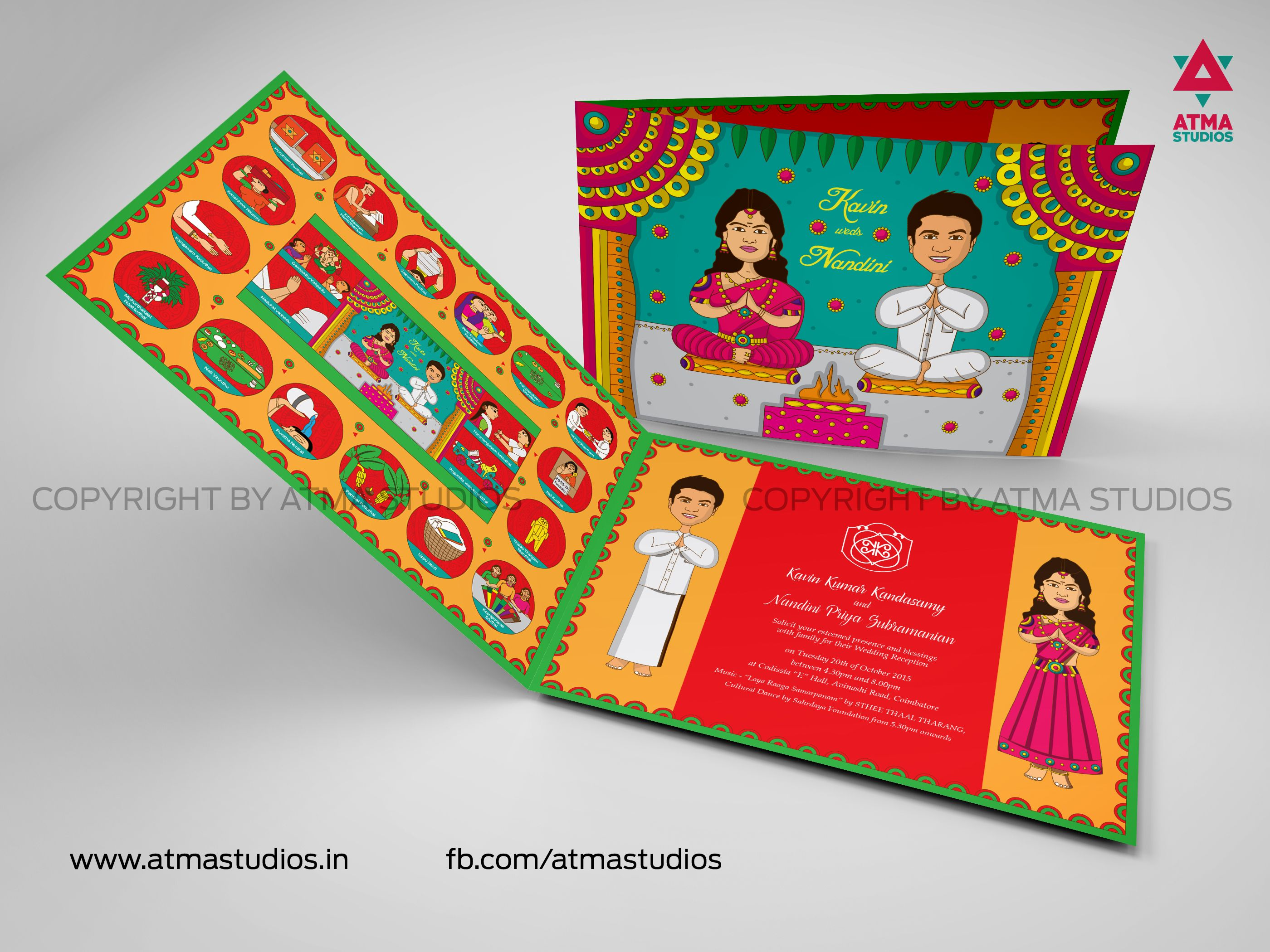 Wedding Invitation Designed by Atma Studios | Atma - Wedding Invites ...