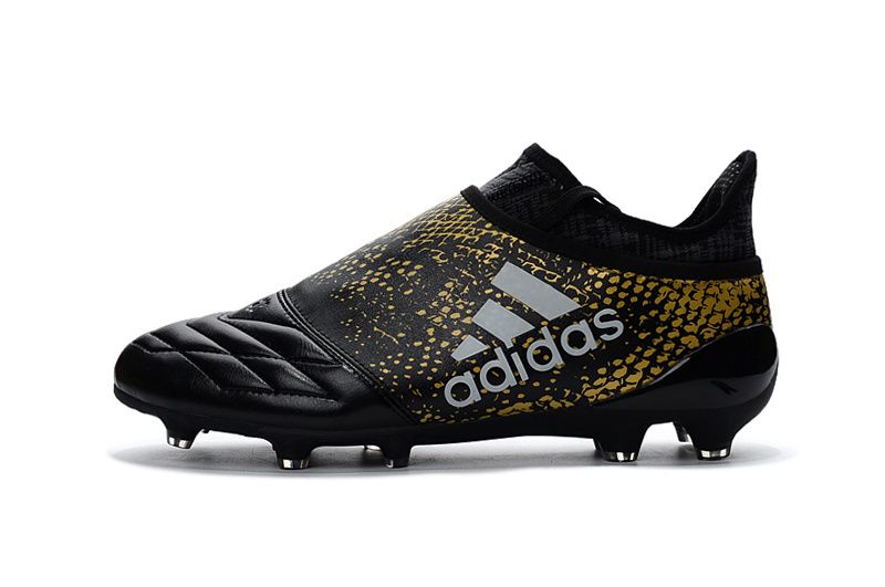 black and gold football boots