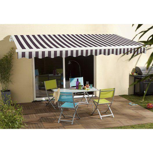 Store Banne Manuel Sunlight 2 Sans Coffre 3 X 2 M Blanc Gris Stores Exterieurs Store Fenetre Et Store Toile