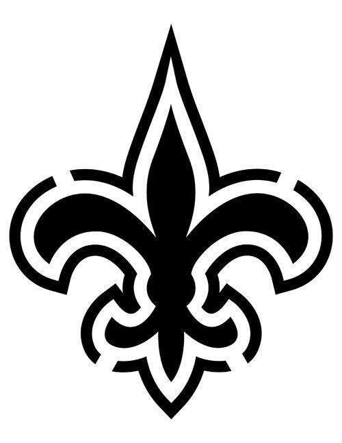 New Orleans Saints Pumpkin Stencils New Orleans Saints Logo New Orleans Saints Nfl Saints