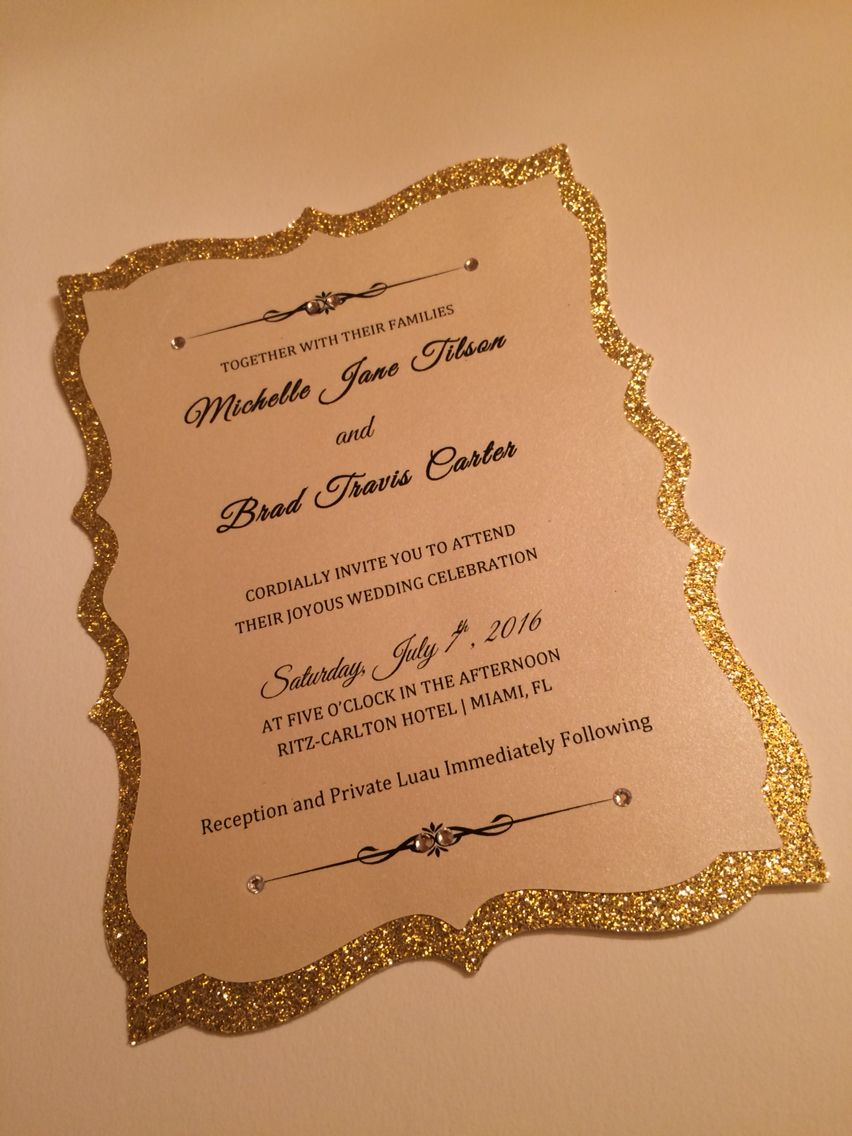 Invitation card so sparkling gold See more at www