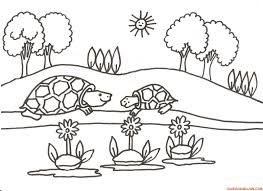 dibujos de paisajes naturales para colorear faciles ...