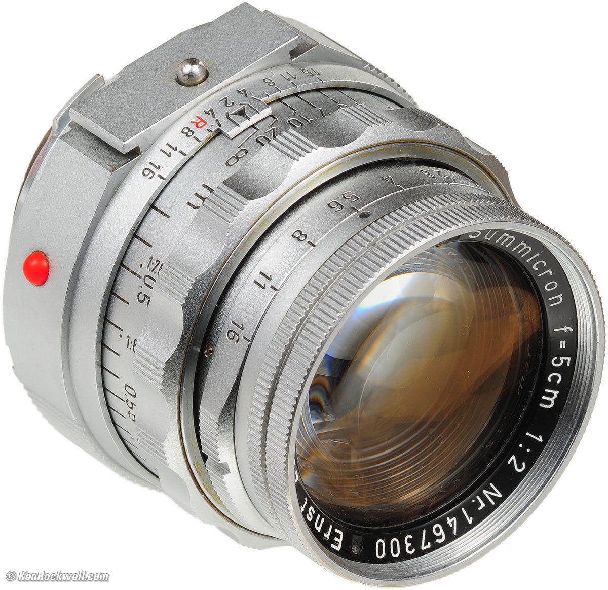 LEICA 50mm f/2 SUMMICRON with Near-Focusing Range