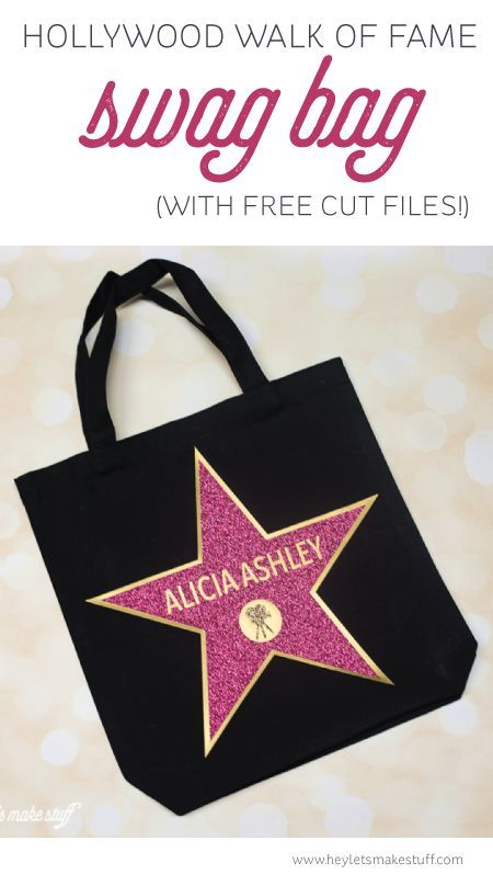 Hollywood Walk of Fame Swag Bag - the perfect party favor for an Oscars party!