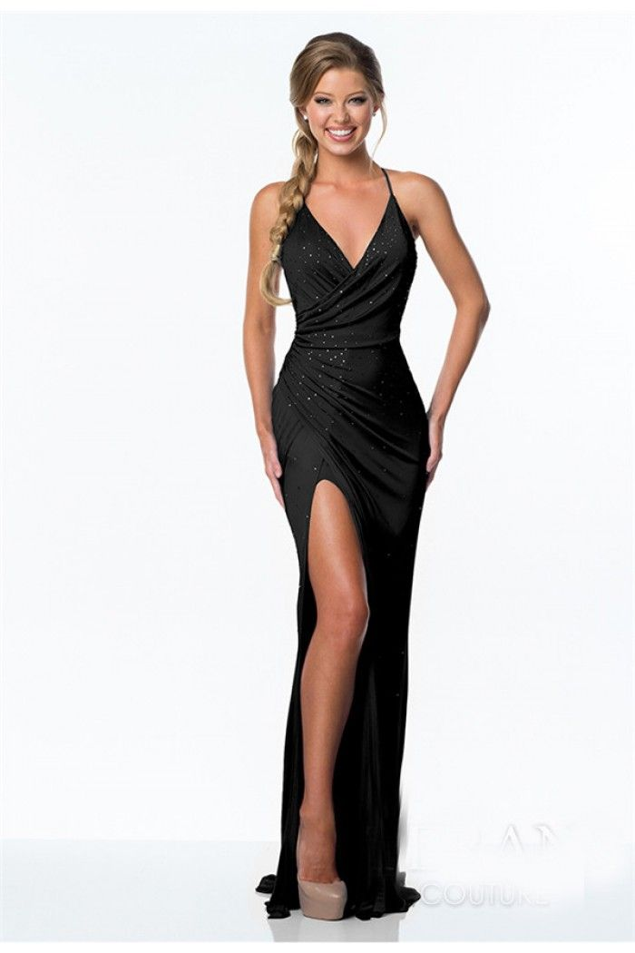 Black Prom Dress with Slit