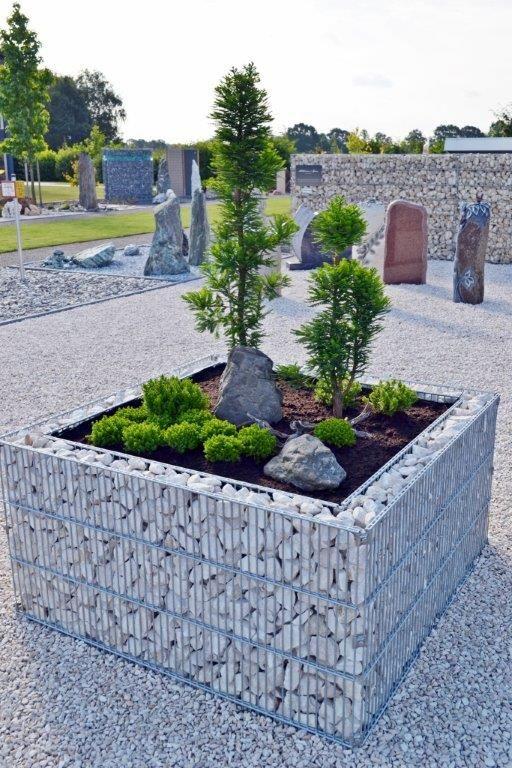 originale et d corative cette jardini re 120 120 80 en gabion embellira votre ext rieur elle. Black Bedroom Furniture Sets. Home Design Ideas