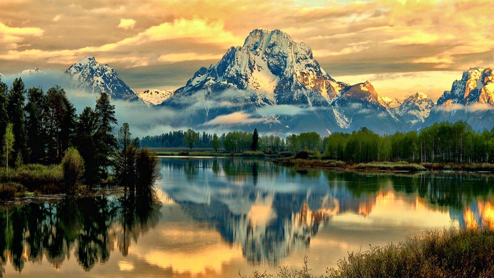 Jackson Lake Mount Moran Grand Teton National Park Wyoming United States Mountain Reflected Lak In 2020 Grand Teton National Park Beautiful Landscapes Grand Tetons