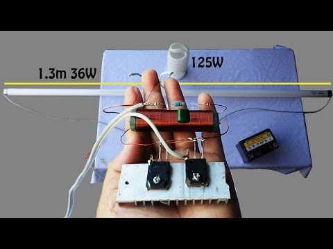 How To Make Invertor Circuit 12v 125w For Fluorescent Lamps Fluorescent Lamp 12v Dc Circuit Youtube Fluorescent Lamp Dc Circuit Circuit