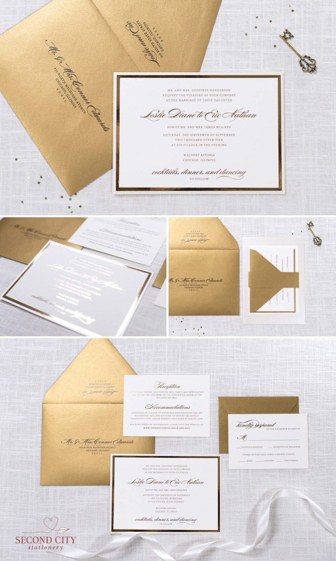 Elegant Ivory, Champagne, Antique Gold, and Gold Foil Wedding ...