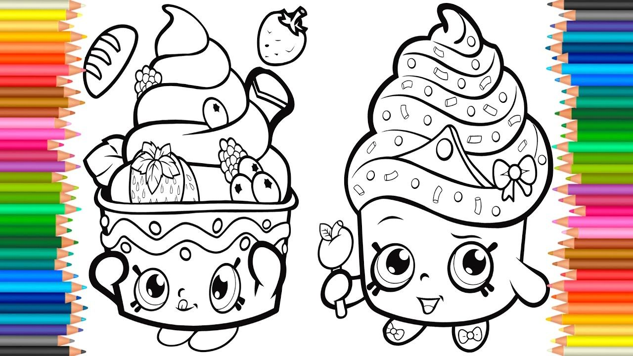 Coloring Pages Cupcake Queen Shopkins Book Videos For Children