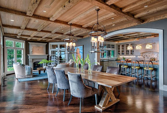 Rustic Ranch Style Home With Inspiring Kitchen Interior Design Dining Room Rustic Dining Room Rustic Modern Kitchen