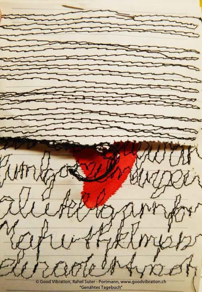 Genähtes Tagebuch, Nadelmalerei\/Sticken, embroidery, stitch Abc - innovative oberflachengestaltung pixelahnliche elemente