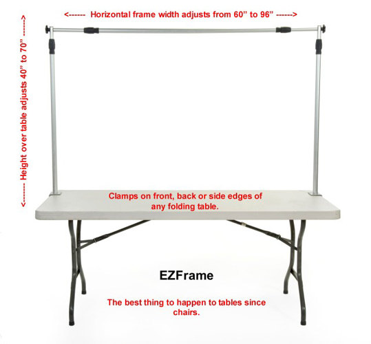 How to hang a banner over a table by EZFrameCompany on Etsy