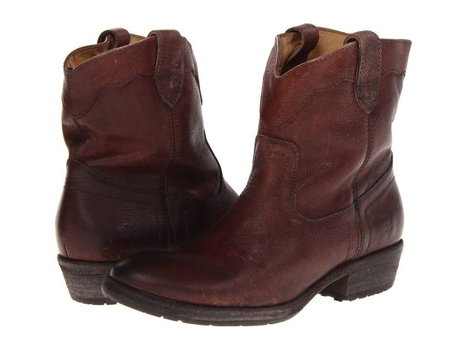Frye Womens Carson Lug Shortm Dark Brown Stone Antiqued - Boots