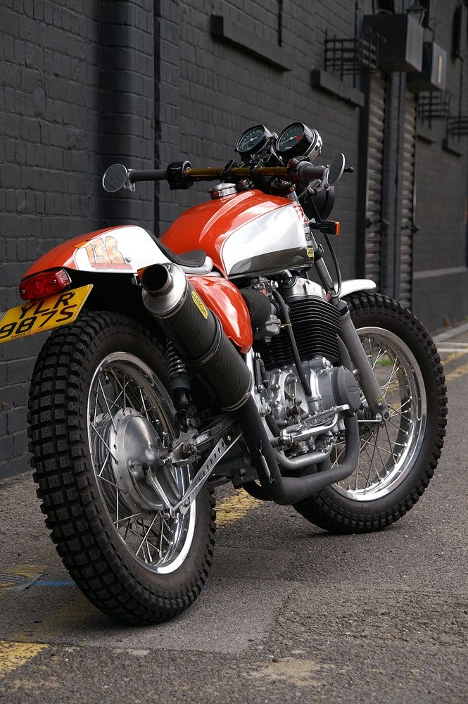 Steve Lowes Honda CB750 K7 Urban Scrambler
