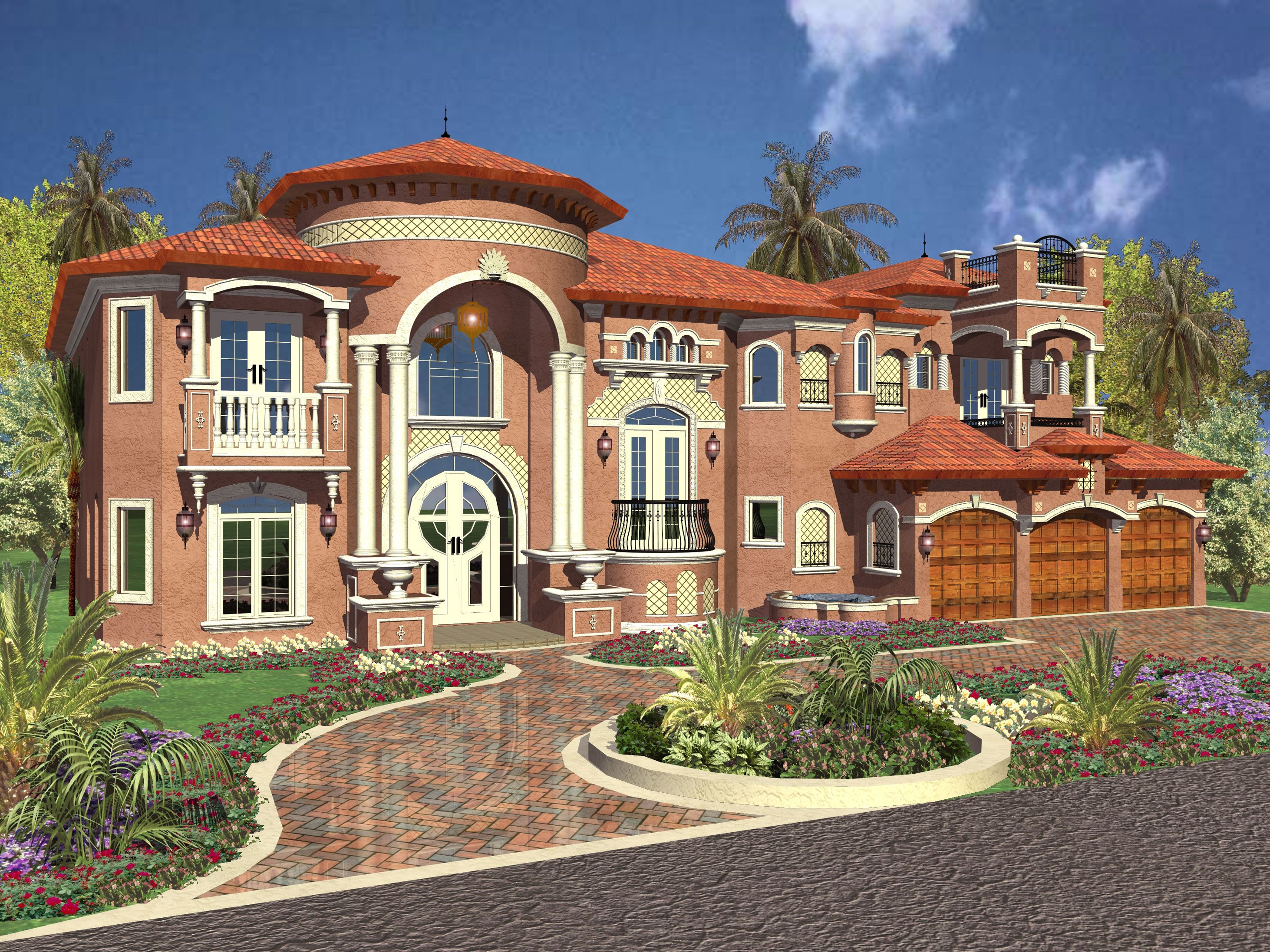 Plan 32106aa Luxurious Mediterranean Styling House Plans With Pictures Luxury House Plans Mediterranean Style House Plans