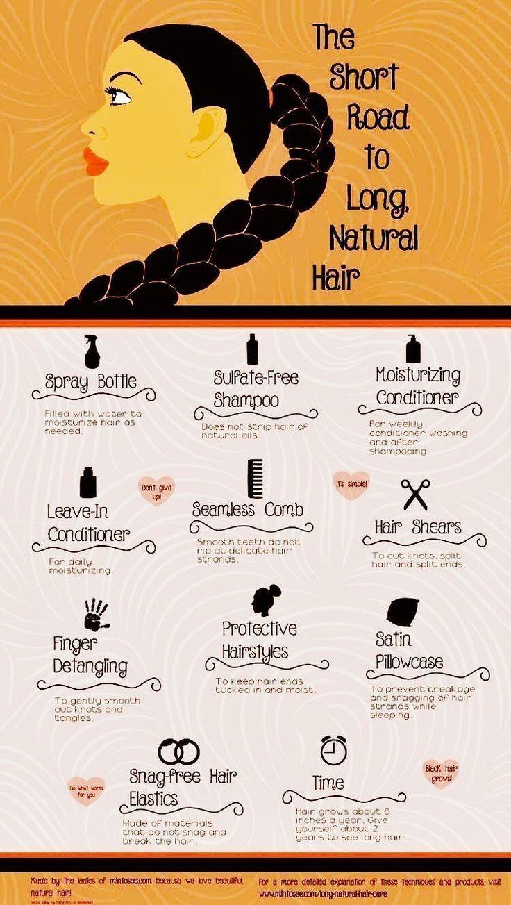 Wie man langes, natürliches Afroamerikanerhaar bekommt. Diese Haarpflegetipps zeigen y